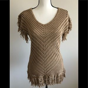 NWT Boho Boston Proper Fringed Top / Sweater